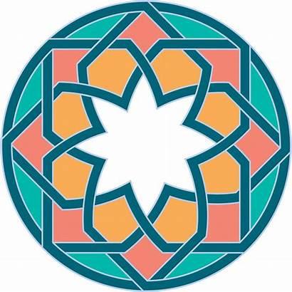 Islamic Clipart Pattern Patterns Circle Flower Arabesque