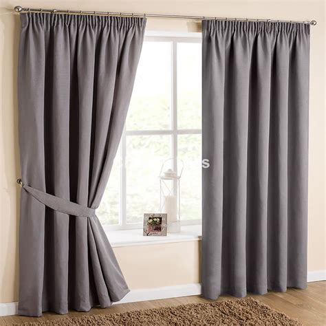 atlanta dove grey pencil pleat curtains with matching tie