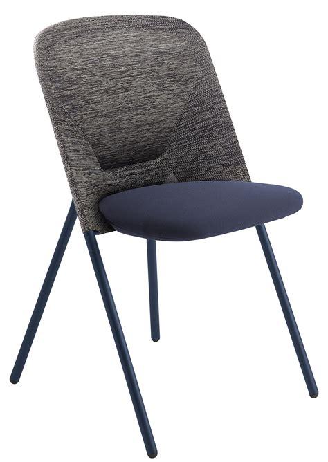 chaise pliante en tissu chaise pliante shift rembourrée tissu bleu gris moooi