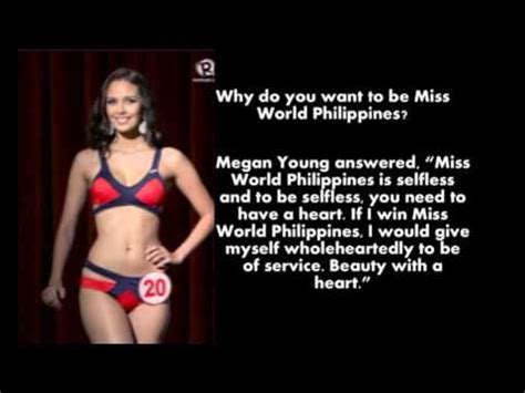 megan young question  answer  world philippines