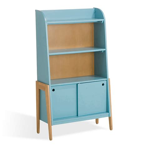 alinea bureau bibliothèque vintage bleue pour enfant vintage univers