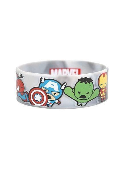 marvel  avengers kawaii rubber bracelet hot topic