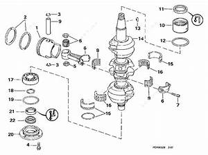 Evinrude 1998 50 - E50dtleca  Crankshaft  U0026 Piston