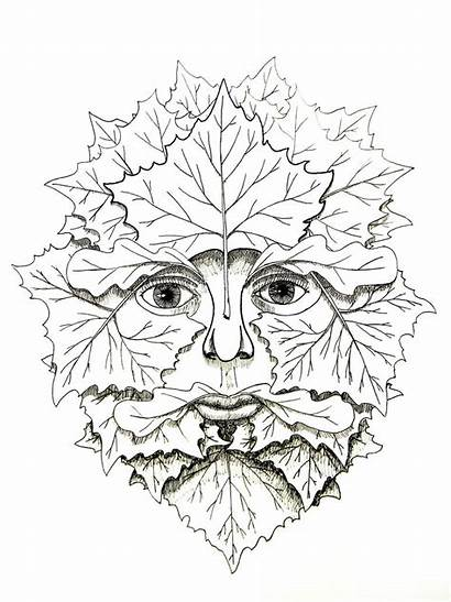 Greenman Deviantart Carving Wood Sycamore Patterns Stencil