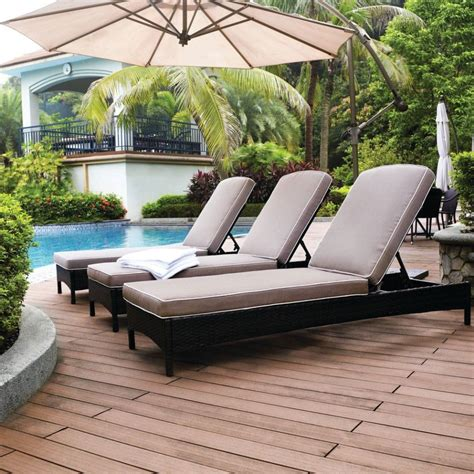 Outdoor Pool Furniture by Patio Outdoor Black Outdoor Chaise Lounge Resin Wicker
