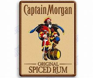 Captain Morgan Spiced Rum Iron On 100% Embroidered