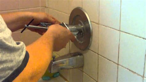 remove  stuck shower faucet handle youtube