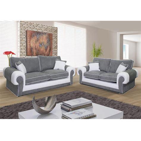 canapé 3 places gris canapé 3 places et canapé 2 places nubuk gris pvc blanc