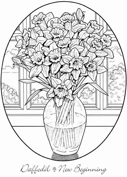 Coloring Pages Dover Flowers Creative Haven Flower