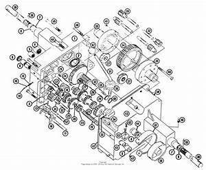 Toro 855  855 Tractor  1965 Parts Diagram For Transmission Parts List