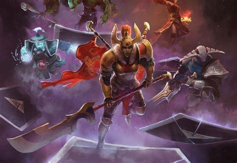 card and gameplay screens for valve s dota 2 card artifact gamespot
