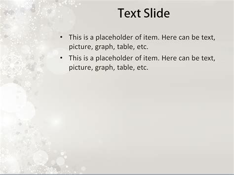 falling snow powerpoint template