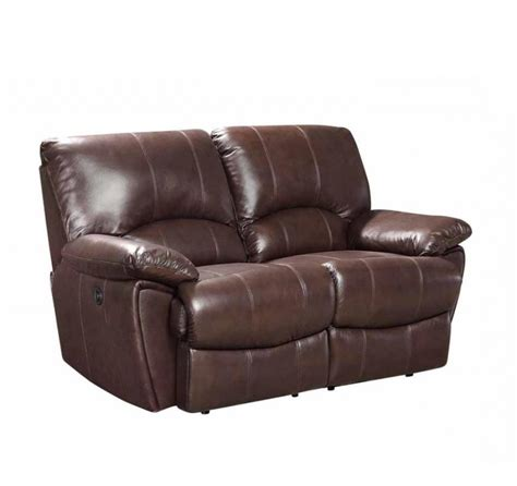 tan leather reclining sofa clifford dual power reclining brown top grain leather loveseat
