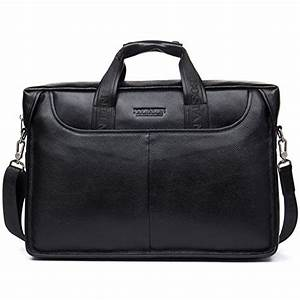 BOSTANTEN Leather Briefcase Laptop Handbag Messenger ...