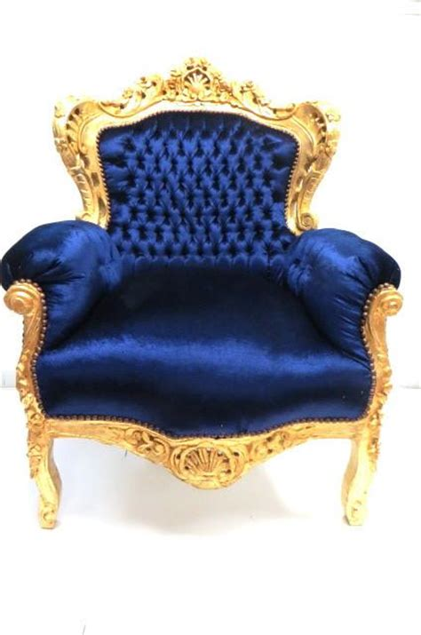 baroque throne gold and royal blue the yellow canopy