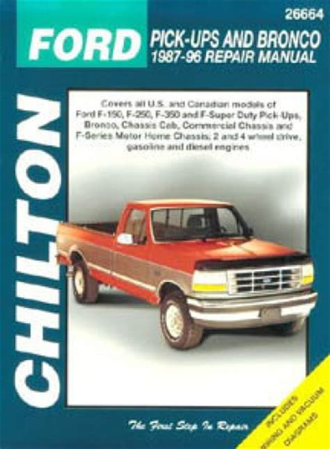 chilton car manuals free download 1996 ford bronco electronic toll collection chilton ford pick ups and bronco 1987 1996 repair manual