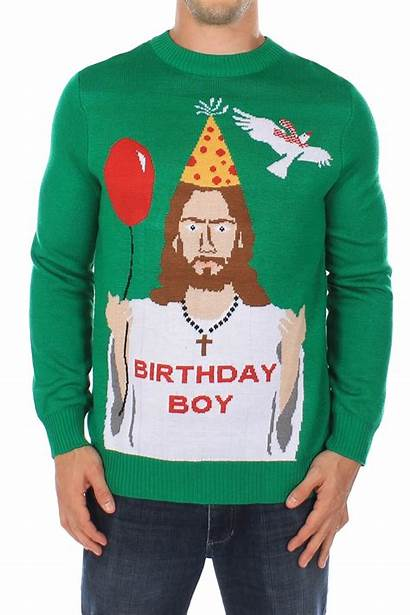 Sweaters Jumper Christmas Jesus Ugly Birthday Jumpers