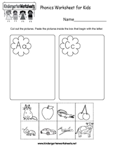 kindergarten phonics worksheets connecting spoken