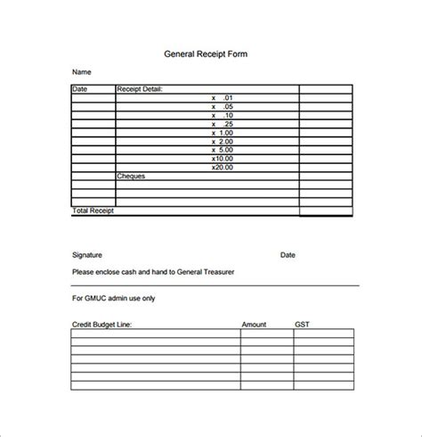 sle general receipt template 20 free for pdf