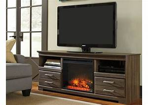 Ivan Smith Frantin Large TV Stand WLED Fireplace Insert