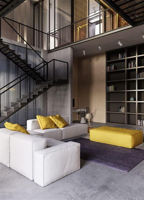interior design industrial style apartment in kiev design Industrial