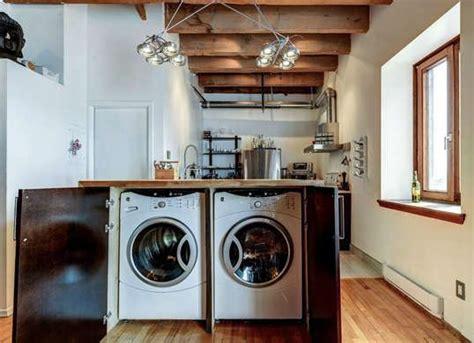 lave linge dans la cuisine comment intégrer le lave linge dans intérieur 31 idées