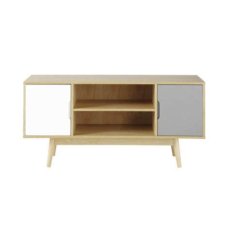 meuble chambre ado fille meuble tv vintage en bois l 120 cm fjord maisons du monde