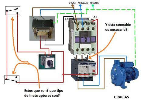 solucionado contactor y relevo termico esquema electrico