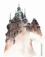 Architecture Watercolor Art