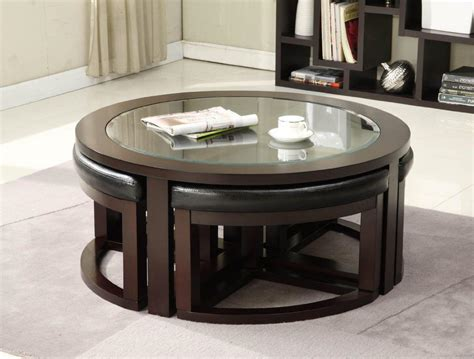 Furniture / coffee tables, ottomans. Coffee Table With Pull Out Ottomans   Roy Home Design