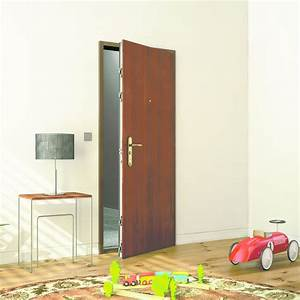 Porte Palière 3 Points : bloc porte blind parement bois ou color uni fichet ~ Melissatoandfro.com Idées de Décoration