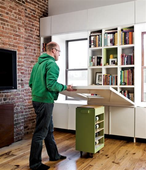 Space Saving Hideaway Desks for Small Apartment Designs