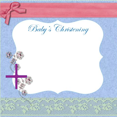 baptism card template free christening invitation cards