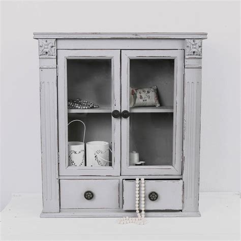 Wall Cabinet by Taupe Grey Glass Fronted Wall Cabinet By Dibor