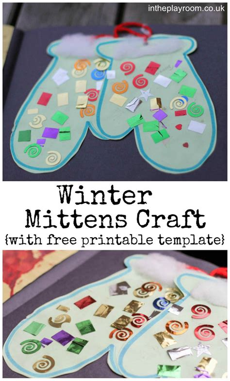 craft ideas for preschool winter mittens craft in the playroom 621