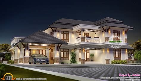 Aesthetic looking house plan - Kerala home design and