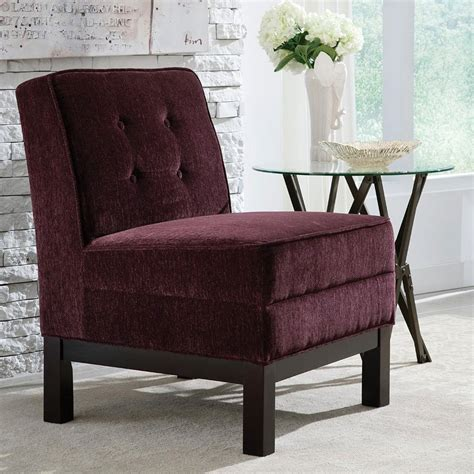 eggplant armless accent chair living room furniture living