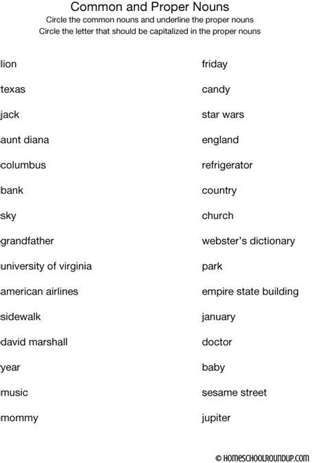 All Worksheets » Proper Nouns Worksheets  Printable Worksheets Guide For Children And Parents