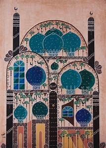 Oil, On, Canvas, Modern, Islamic, Art, Painting, U0644, U0648, U062d, U0627, U062a, U0627, U0633, U0644, U0627, U0645, U064a, U0629