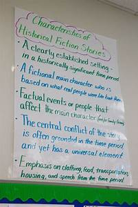 Historical Fiction Anchor Chart Reading And Writing