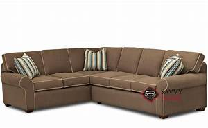 Seattle fabric true sectional by savvy is fully for Sectional sleeper sofa seattle