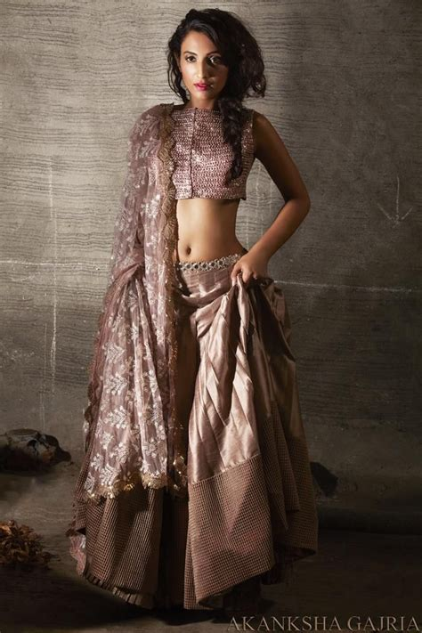 absolutely stunning rose gold lehenga   akansha