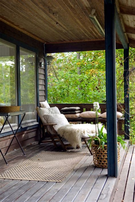 Wooden veranda with terrace   Interior Design Ideas   Ofdesign