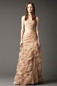 champagne colored dresses dressed up girl With champagne colored wedding dress