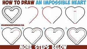 How to Draw an Impossible Heart - Easy Step by Step ...