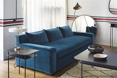 canap lavoine coup de cœur pour le canapé en velours bleu rise and shine