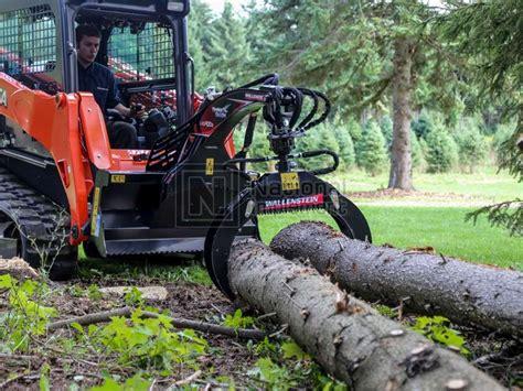 wallenstein skid steer hydraulic rotation log grapple model lxgr