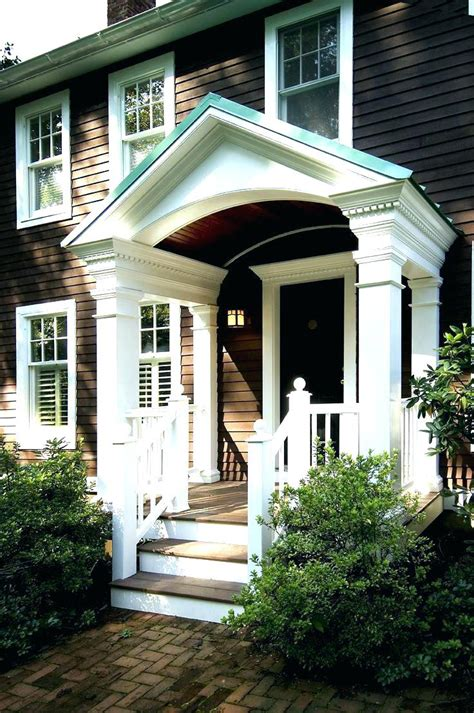 front porch awning  door ideas  teamnsinfo wood awnings residential home elements
