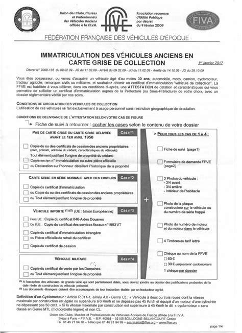 bureau carte grise procédure de carte grise collection amicale rétro
