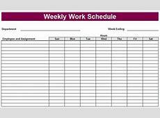 Printable Weekly Schedule Template & Excel Planner